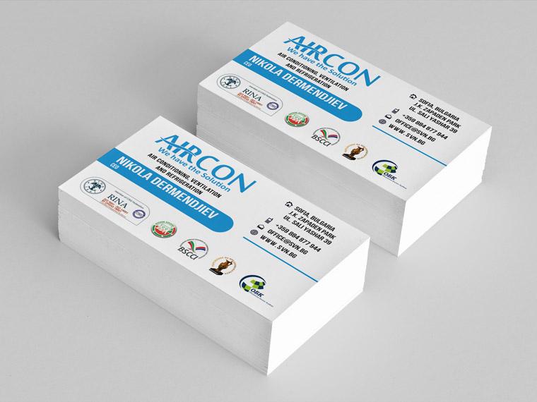 hvac business card logos best business cards