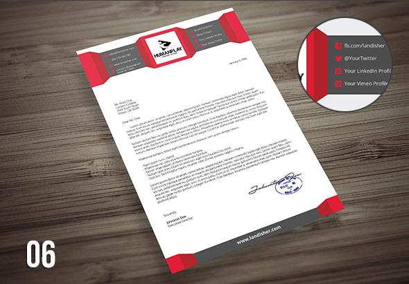 6 creative letterhead template psd