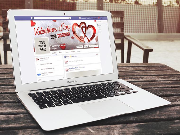 Free Facebook Cover Mockup Desing