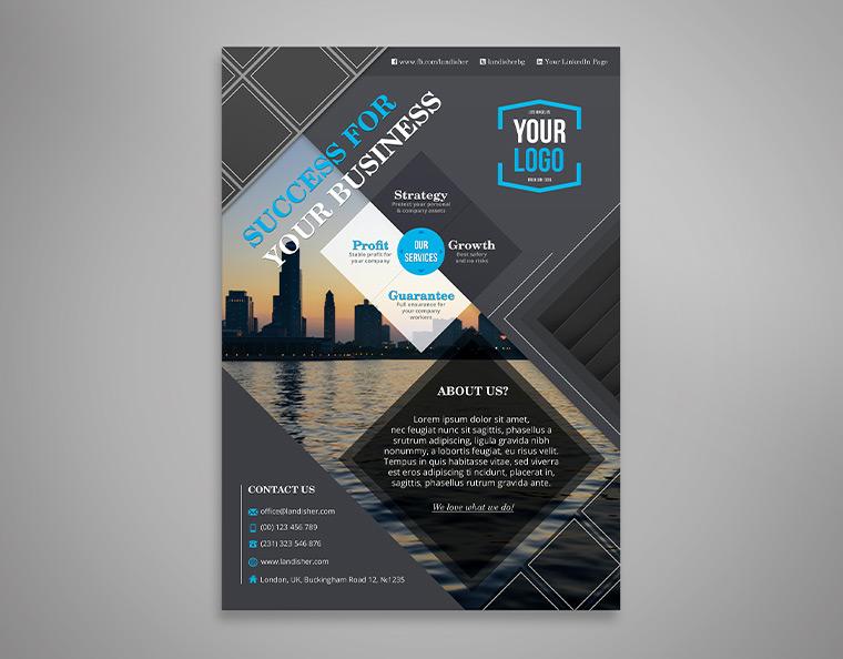business flyer  brochure template