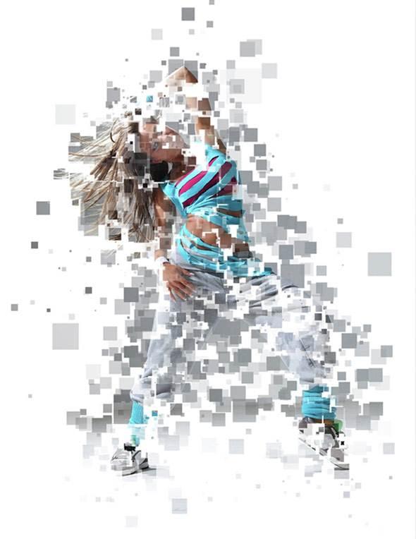 Pixelize Photoshop Action Template