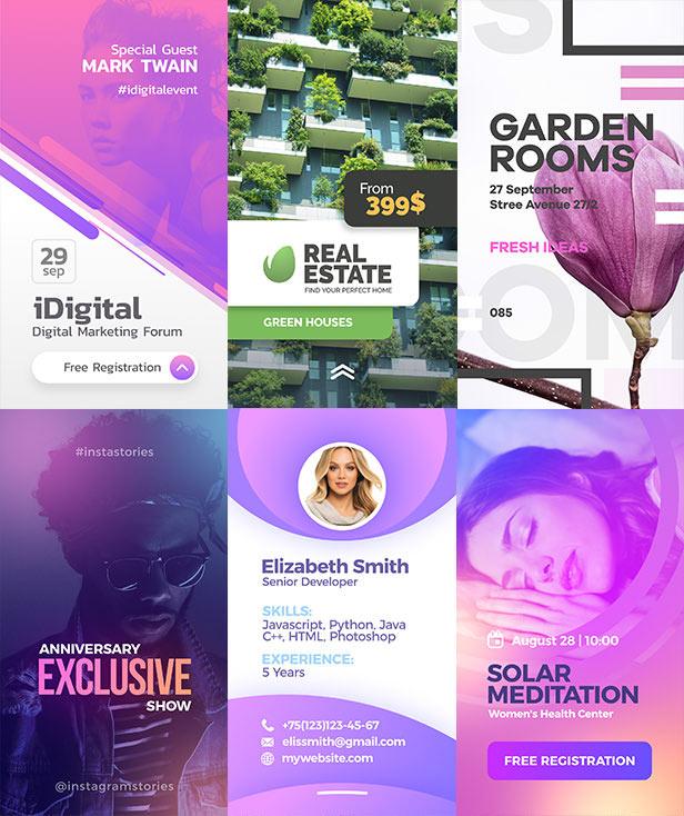 10 Instagram Stories Templates - Video, PSD & Apple Motion - Landisher